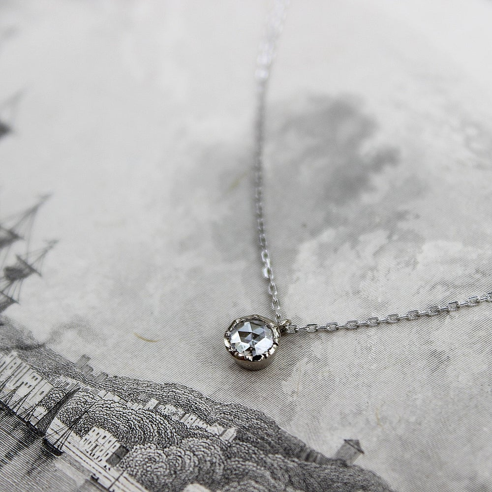 Image of Platinum, 3.9mm rose~cut diamond necklace (IOW06B)