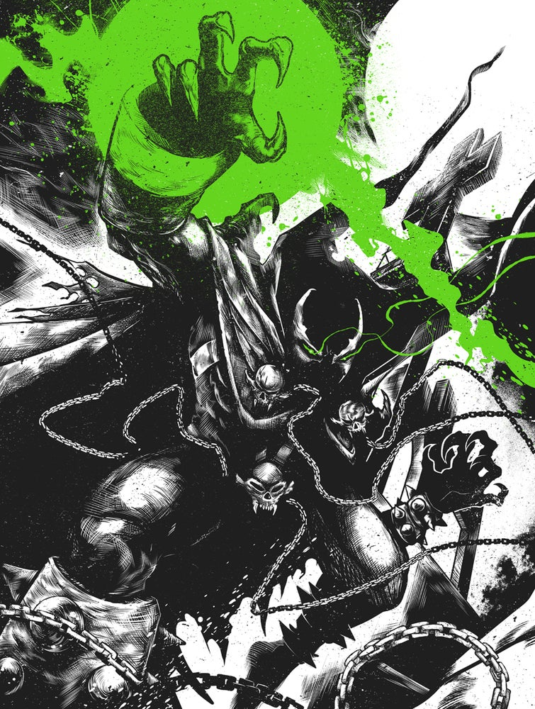 "Image of ""HELLSPAWN"" limited ed 18x24 Screen Print"