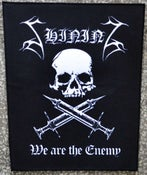 "Image of Shining ""We Are The Enemy"" Backpatch"