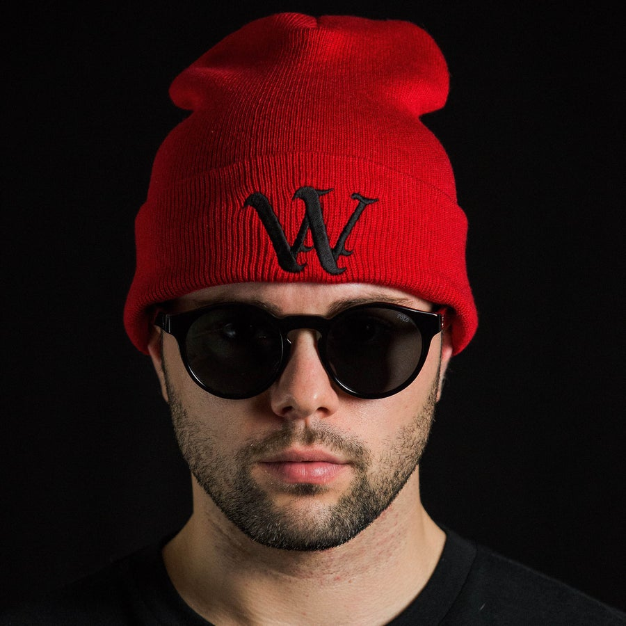 Image of Red Authentics Beanie