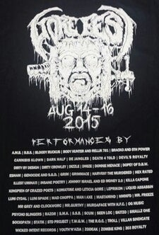 Image of COLLECTORS LTD 2015 GOREFEST LINEUP SHIRTS