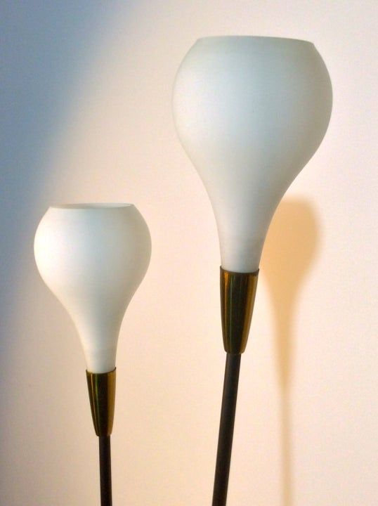 Image of Italian Floor Lamp with Optional Shades, 1950s