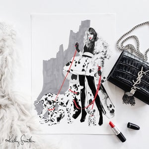 Image of Cruella - LIMITED EDITION FINE ART PRINT A3/A2