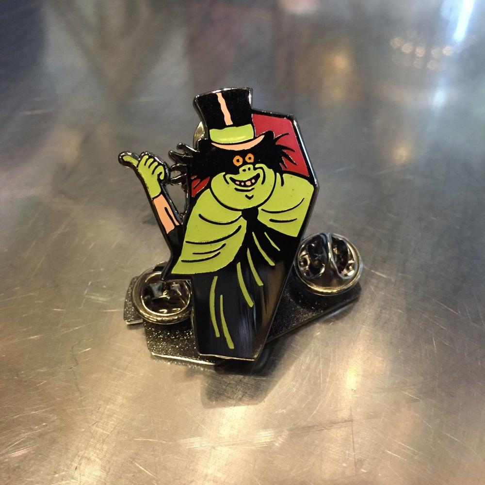 Image of Hitchhiking Ghost enamel pin