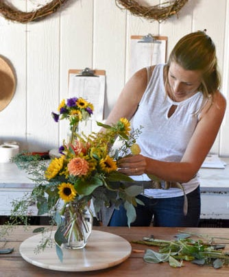 Image of Field to Vase Workshop - Table Bouquet