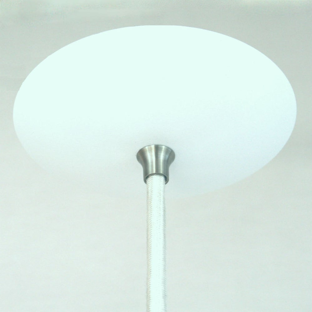 Adapted for int 39 l use white orbiter 8 mid century modern for Mid century modern globe pendant light