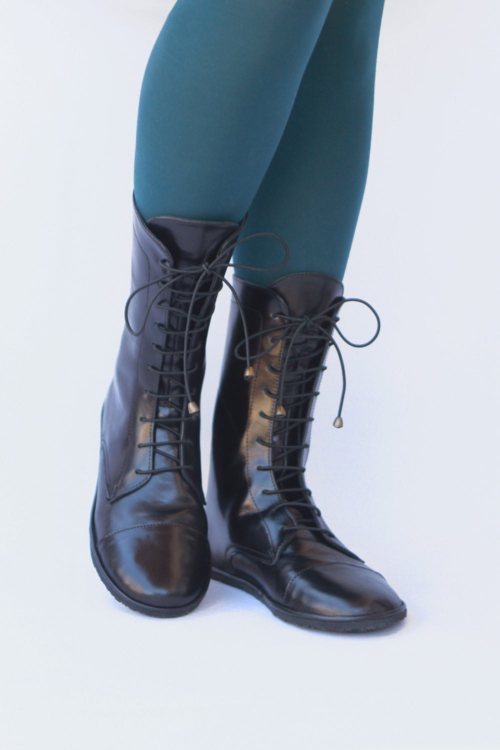 Image of Lace up boots - Impulse in Lustrous Black