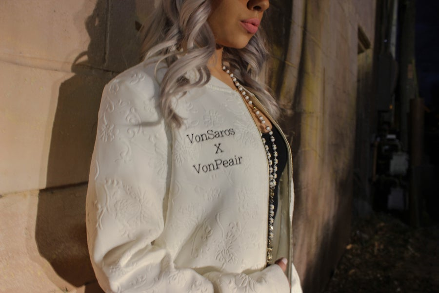Image of Mona Lisa Collection -White Womens Jacket