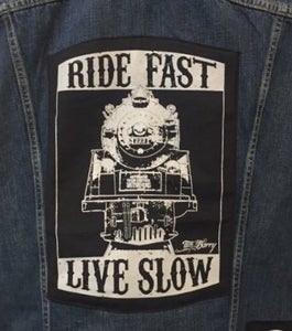 "Image of Back in stock! ""RIDE FAST, LIVE SLOW"" -BACK PATCH"