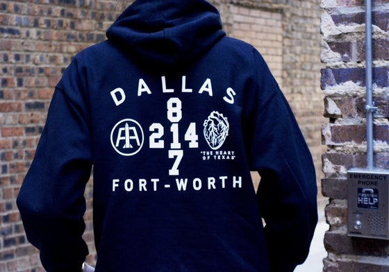 "Image of Black ""Heart of Texas"" Hoodie"