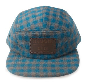 Image of Blue & Grey Buffalo Plaid 5 Panel Hat