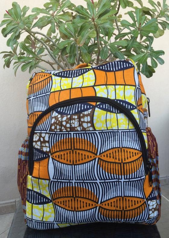 Image of Ankara Book Bag Style 3