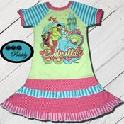 Image of Cinderella & Prince double ruffle Dress - size 9/10