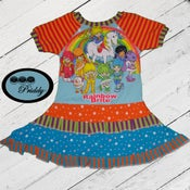 Image of **SOLD OUT** Rainbow Brite Double Ruffle Dress - size 5/6
