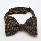 Image of Grey Pinhead Wool Bowtie