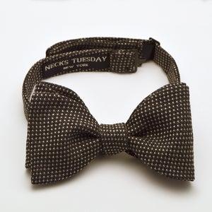 Image of Grey Pinhead Wool Bowtie