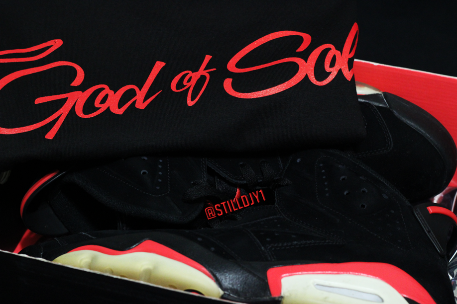 Image of Black / Red God of Soles Shirts