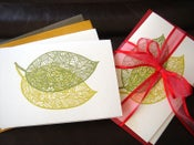 Image of Leafy garden greetings cards