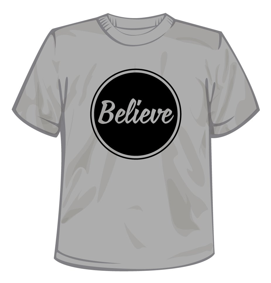 Image of Believe Logo T-Shirt Black