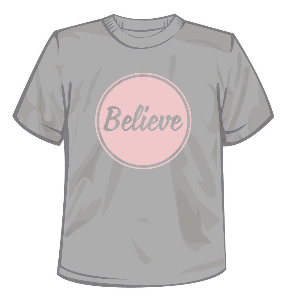 Image of Believe Logo T-Shirt Pink