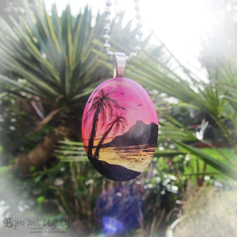 Image of Tropical Sunset Resin Pendant