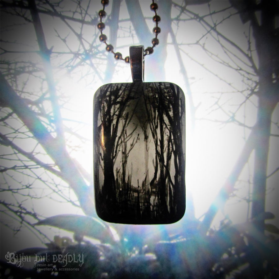 Image of Gloomy Wood Resin Pendant