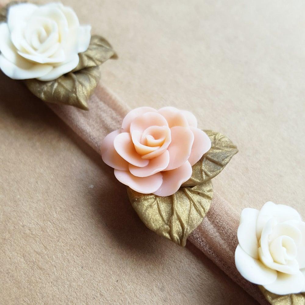 Image of Peaches & Cream Blossom Crown
