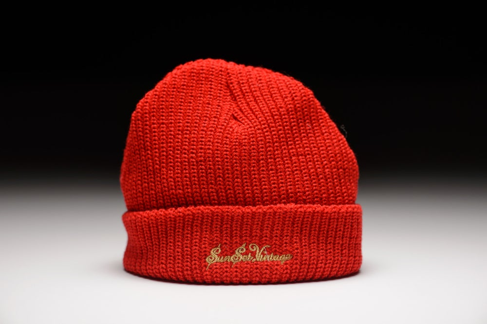 Image of GRIME Short Beanie - Cherry Red