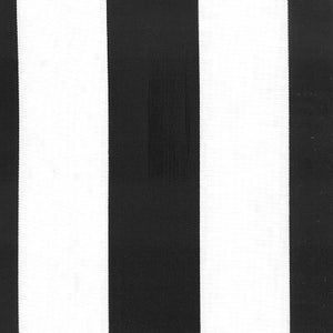 Image of FF Black and White Stripe Outdoor Fabric