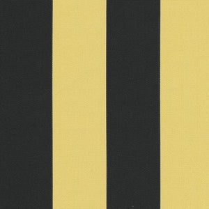 Fabric Freak Ff Black And Yellow Gold Stripe Outdoor Fabric
