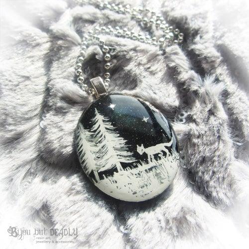 Image of Winter Scene Mini Resin Pendant