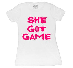 "Image of LIKE MIKE ""SHE GOT GAME"" White / Pink"