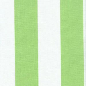 Image of FF Lime Green and White Stripe Outdoor Fabric