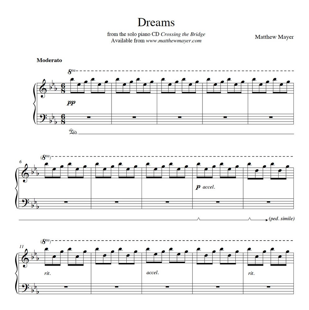 Image of NEW - Dreams Sheet Music