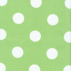 Image of FF Lime Green and White Polka Dot Outdoor Fabric
