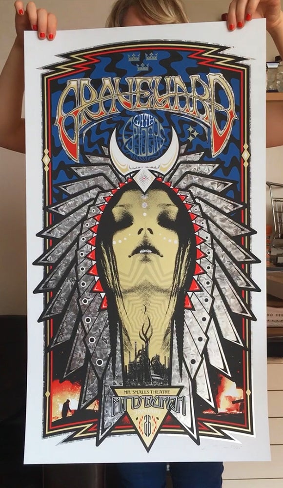 Image of LARGE Poster - Graveyard Pittsburgh Silkscreen Poster - Steel City Edition