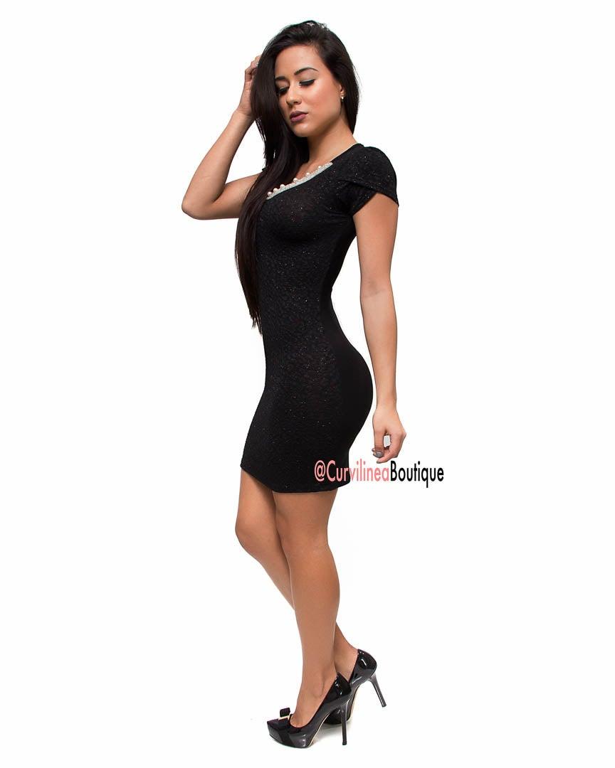 BLACK PEARL DRESS / Curvilinea Boutique