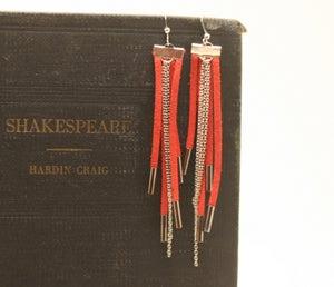 Image of MJ Bijoux ~ Suede Tassel Earrings