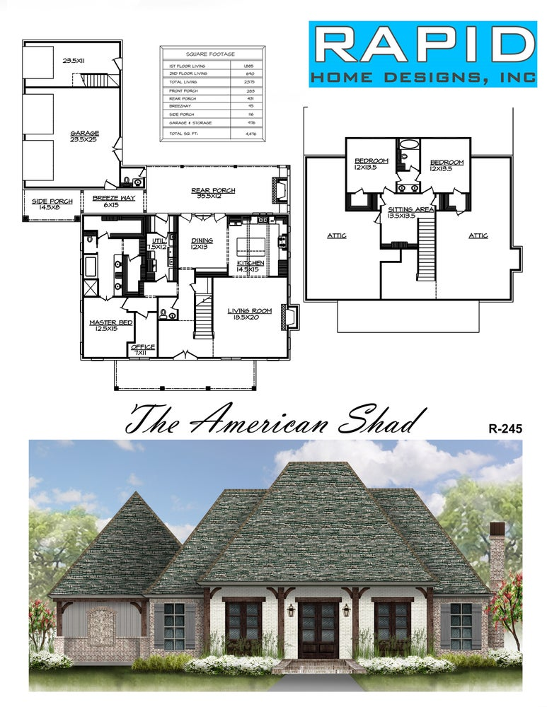 The american shad 2575sf rapid home designs for Rapid home designs