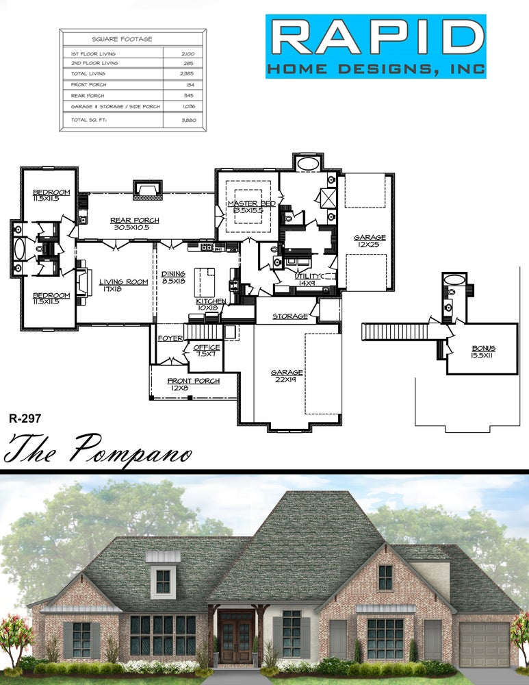 The pompano 2385sf rapid home designs for Rapid home designs