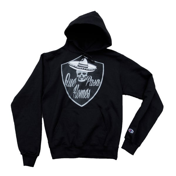 Image of Que Pasa Homes Hoodie Black/Silver