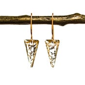 Image of 14kt rose gold-filled spike earrings made with Swarovski® Crystal Elements