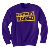 Image of KY Raised Crewneck Sweatshirt in Purple & Gold