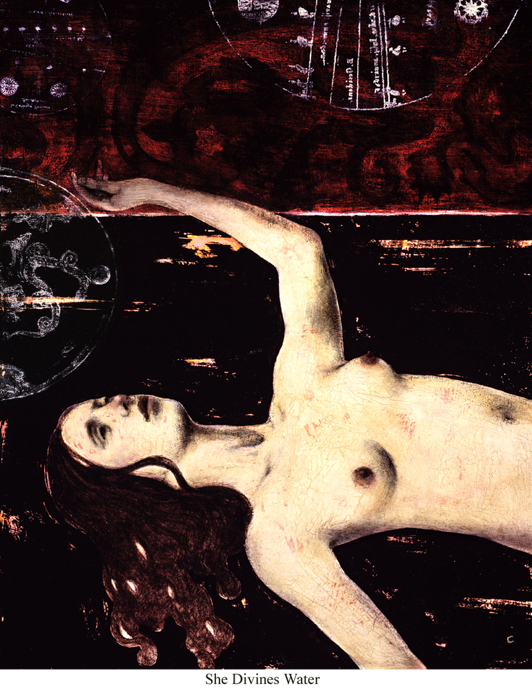 Image of Canvas Giclee- She Divines Water
