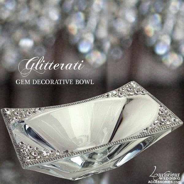 Image of Glitterati Crystal Gem Decorative Bowl