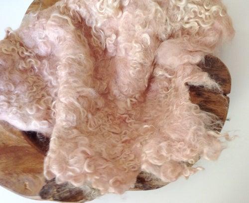 Image of Nest of Curls Blanket - VINTAGE PINK