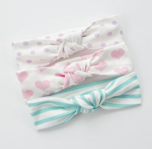 Image of KNOTTED HEADBANDS, PASTEL COLLECTION, SET OF 3