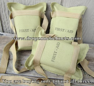 WWII First Aid Kits. OD#3 Khaki 1st Aid Bandage (New Condition)