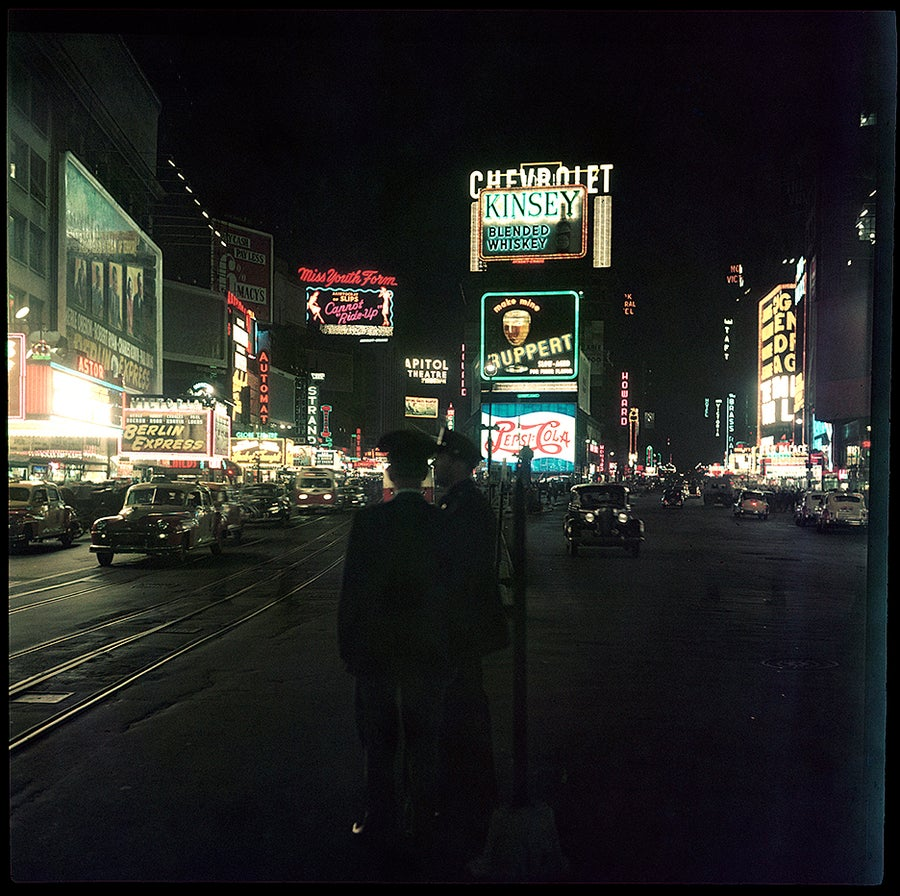 Image of Time Square 1948. A Rare Color Photo From The Era
