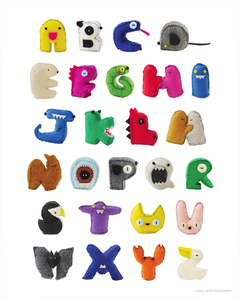 Image of Stuffed Creature Alphabet Poster
